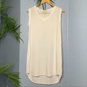 Cloth & stone•white cap sleeve mini dress S